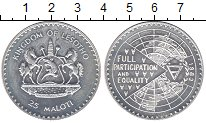 Изображение Монеты Лесото 25 малоти 1983 Серебро UNC-