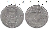 Изображение Монеты Португалия 10 эскудо 1955 Серебро VF