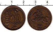Изображение Монеты Литва 10 сенти 1925 Латунь VF