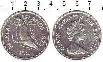 Изображение Монеты Фолклендские острова 5 фунтов 1979 Серебро UNC-