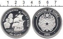 Изображение Монеты Тонга 1 паанга 1991 Серебро Proof Первооткрыватели  То