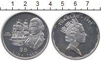 Изображение Монеты Токелау 5 тала 1989 Серебро Proof