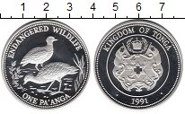 Изображение Монеты Тонга 1 паанга 1991 Серебро Proof