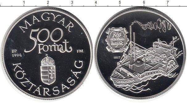 Картинка Монеты Венгрия 500 форинтов Серебро 1994