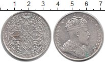 Изображение Монеты Стрейтс-Сеттльмент 1 доллар 1907 Серебро XF Эдвард VII