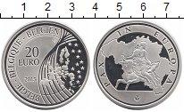 Изображение Монеты Бельгия 20 евро 2015 Серебро Proof-