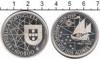Изображение Монеты Португалия 100 эскудо 1989 Серебро Proof- Открытие Азорских ос
