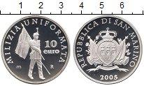 Изображение Монеты Сан-Марино 10 евро 2005 Серебро Proof