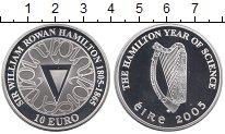 Изображение Монеты Ирландия 10 евро 2005 Серебро Proof Год  Гамильтона  в