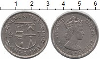 Изображение Монеты Маврикий 1 рупия 1975 Медно-никель XF