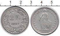 Изображение Монеты Швейцария 2 франка 1909 Серебро VF