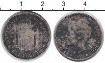Изображение Монеты Испания 1 песета 1900 Серебро VF