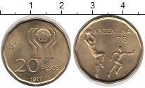 Изображение Монеты Аргентина 20 песо 1977 Медно-никель UNC-