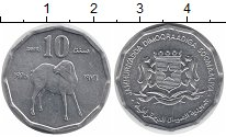 Изображение Монеты Сомали 10 сенти 1976 Алюминий XF