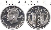 Изображение Монеты Новая Зеландия Ниуэ 50 долларов 1988 Серебро Proof