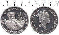 Изображение Монеты Острова Кука 50 долларов 1990 Серебро Proof