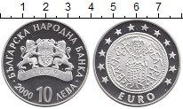 Изображение Монеты Болгария 10 лев 2000 Серебро Proof Болгария в ЕС