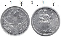 Изображение Монеты Новая Каледония 2 франка 1949 Алюминий UNC