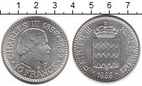 Изображение Монеты Монако 10 крон 1966 Серебро UNC
