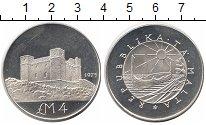 Изображение Монеты Мальта 4 фунта 1975 Серебро Proof- Башня Святой Агаты