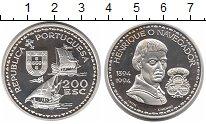 Изображение Монеты Португалия 200 эскудо 1994 Серебро Proof- Энрике Навигатор