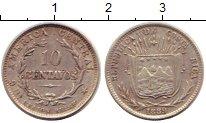 Изображение Монеты Коста-Рика 10 сентаво 1889 Серебро XF