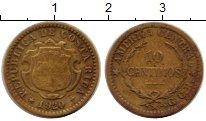 Изображение Монеты Коста-Рика 10 сентим 1920 Латунь VF