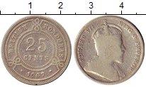 Изображение Монеты Белиз 25 центов 1907 Серебро VF