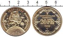 Изображение Монеты Швейцария 20 франков 1999 Серебро UNC 150  лет  Швейцарско