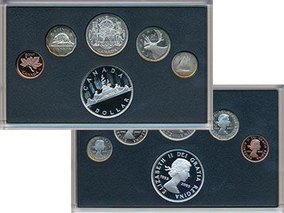 Изображение Подарочные монеты Канада 50 лет Коронации Елизаветы II 2003 Серебро Proof Набор посвящен 50-ле