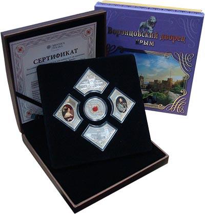 Изображение Подарочные монеты Ниуэ Воронцовский дворец 2014 Серебро Proof Набор из пяти монет