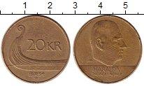 Изображение Монеты Норвегия 20 крон 1994 Латунь XF