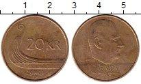 Изображение Монеты Норвегия 20 крон 2001 Латунь XF