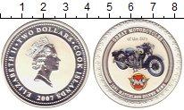 Изображение Монеты Острова Кука 2 доллара 2007 Серебро Proof Елизавета II.  Ретро