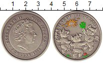 Изображение Монеты Ниуэ 1 доллар 2006 Серебро UNC Цветная  эмаль.  Ели