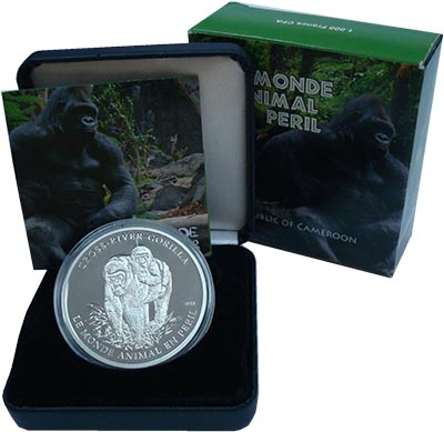 Изображение Подарочные монеты Камерун 1000 франков 2010 Серебро Proof