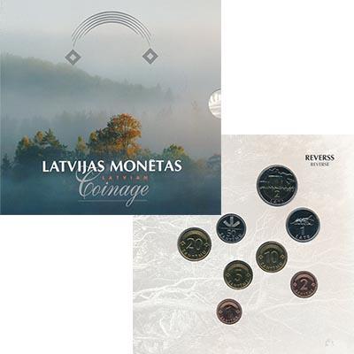 Изображение Подарочные наборы Латвия Набор 2003 года 2003  UNC В набор входят восем