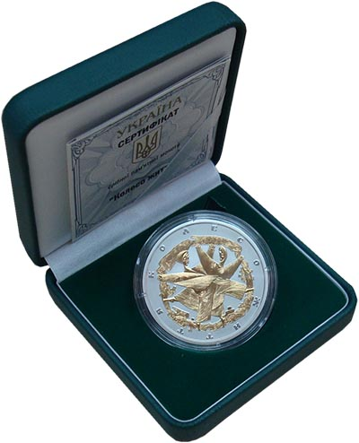 Изображение Подарочные монеты Украина 10 гривен 2017 Серебро Proof Колесо жизни (серебр
