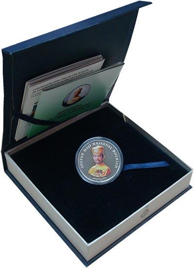 Изображение Подарочные монеты Бруней 25 сен 2009 Медно-никель Proof