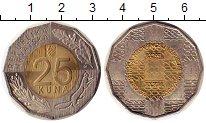 Изображение Монеты Хорватия 25 кун 2016 Биметалл UNC-
