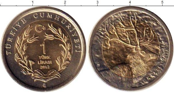 Картинка Монеты Турция 1 лира Биметалл 2012