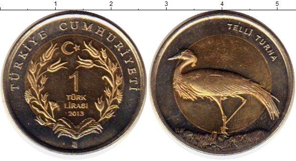 Картинка Монеты Турция 1 лира Биметалл 2013