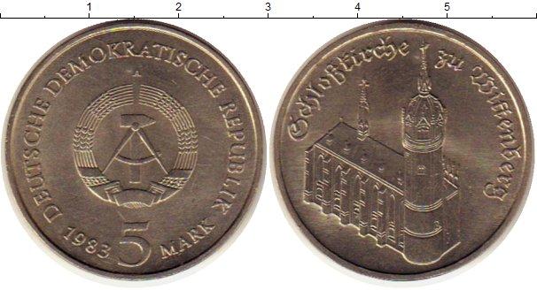 Картинка Монеты ГДР 5 марок Медно-никель 1983