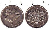 Изображение Монеты Латвия 1 лат 2012 Медно-никель UNC-