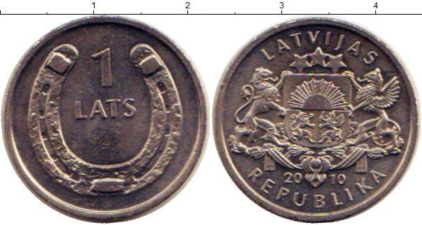 Картинка Монеты Латвия 1 лат Медно-никель 2010