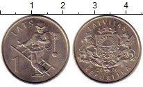 Изображение Монеты Латвия 1 лат 2008 Медно-никель UNC-