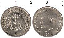 Изображение Монеты Гаити 5 центов 1975 Медно-никель UNC- Дювалье