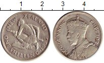 Изображение Монеты Новая Зеландия 1 шиллинг 1935 Серебро XF