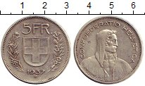 Изображение Монеты Швейцария 5 франков 1937 Серебро XF
