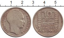 Изображение Монеты Франция 10 франков 1934 Серебро XF